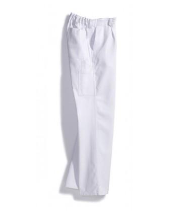 Pantalon de peintre blanc pur coton, pas cher