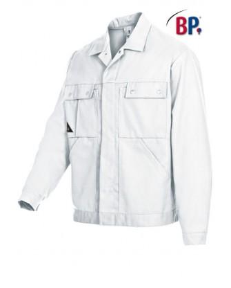 Blouson blanc coton-polyester, spécial peintre