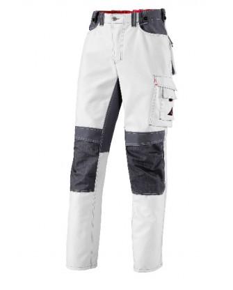 Pantalon de peintre blanc avec genouillères BP Performance