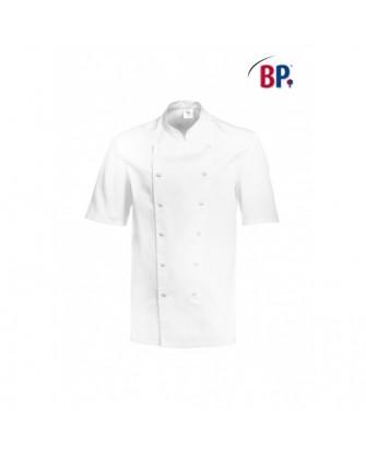 Veste de cuisinier manches courtes, boutons-pressions