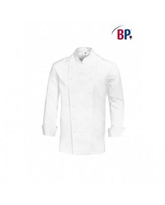 Veste de cuisine blanche, manches longues, pur coton