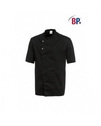 Veste de cuisinier noire manches courtes