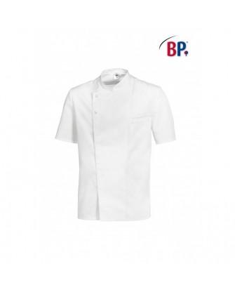 Veste de cuisinier manches courtes, boutons pressions