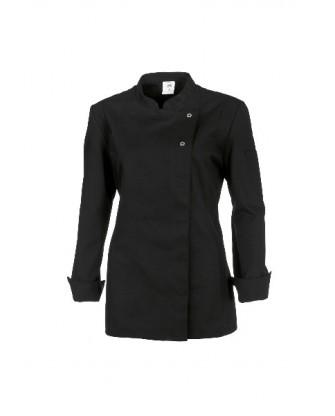 Veste cuisinier noire coupe femme