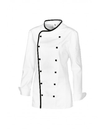 Veste Grand Chef femme blanche, Stretch